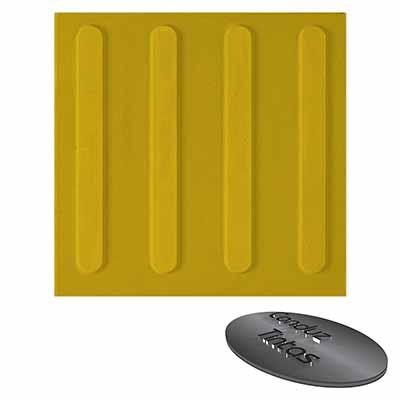 Piso tátil direcional amarelo